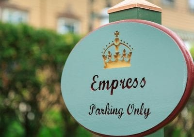 """""""Empress Parking Only"""" Oval Sign"""