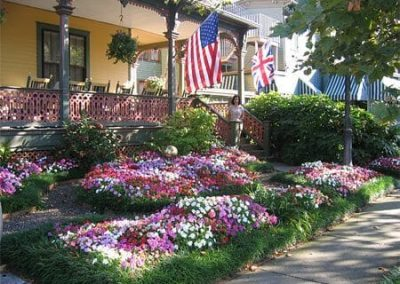 Colorful flowers in summer- Queen Victoria Cape May