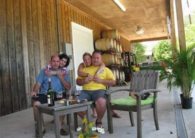 Guest Photos- couples sitting outside of Cape May bar