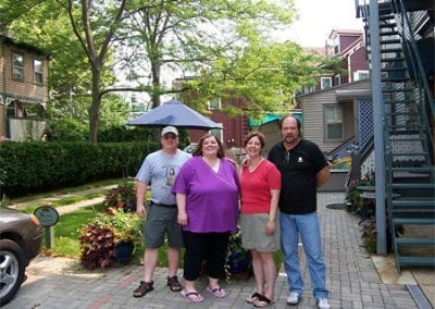 Guest Photos- Two couples standing outside of the Queen Victoria