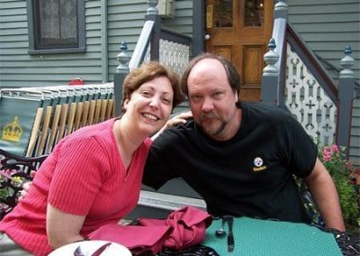 Guest Photos- Happy couple outside of Queen Victoria
