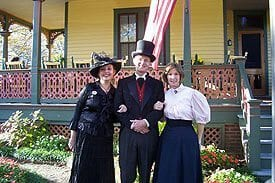 Guest Photos- Owner of Queen Victoria dressed in vintage clothing with wife.